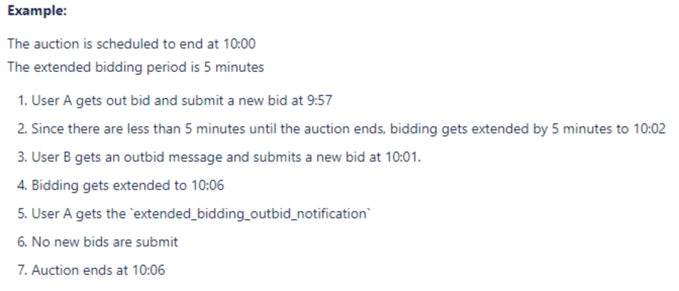Example of Extended Bidding