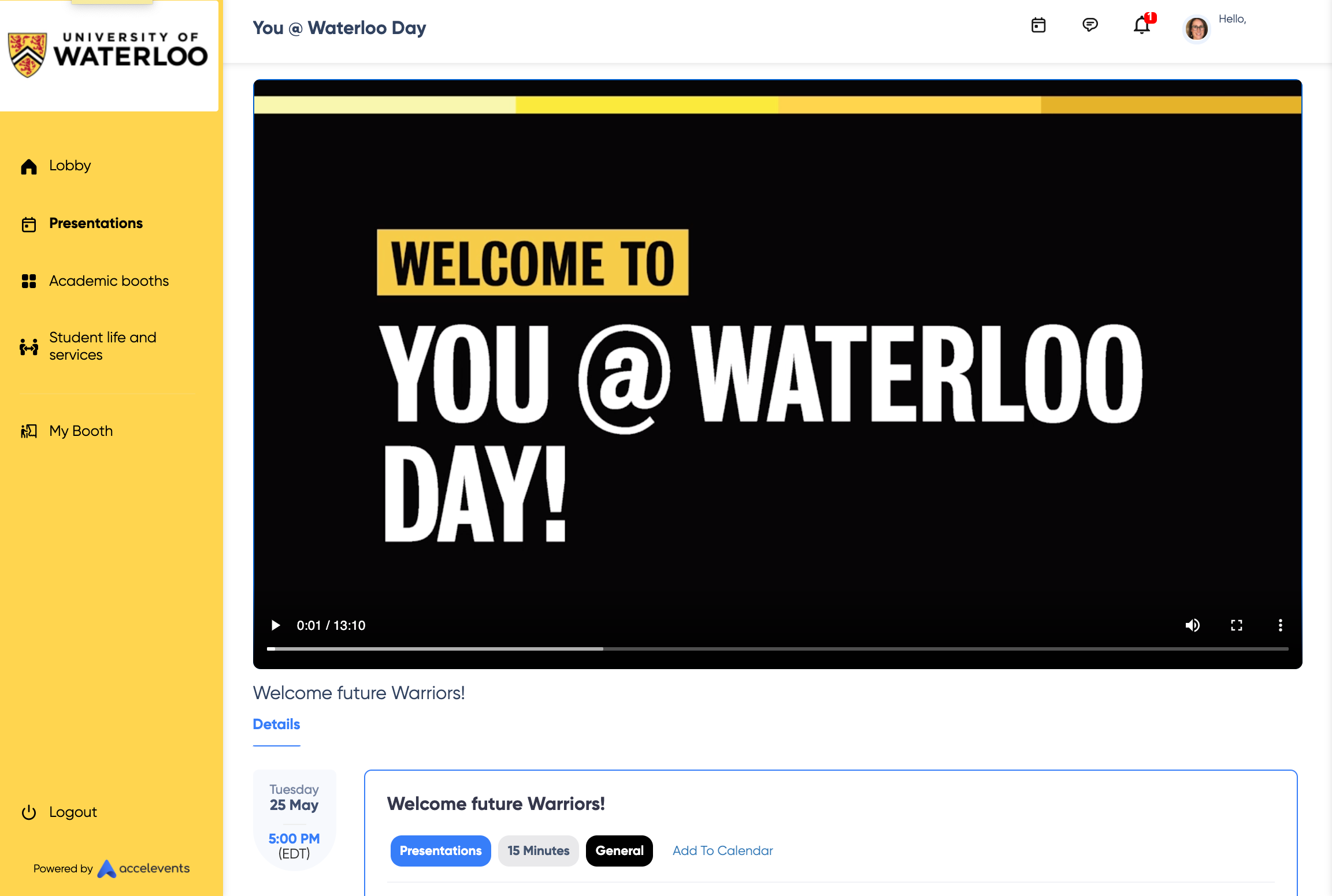 Virtual event with University of Waterloo