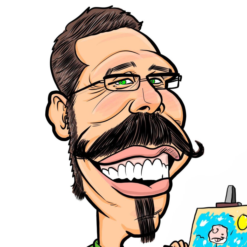 caricatures as in virtual event ideas