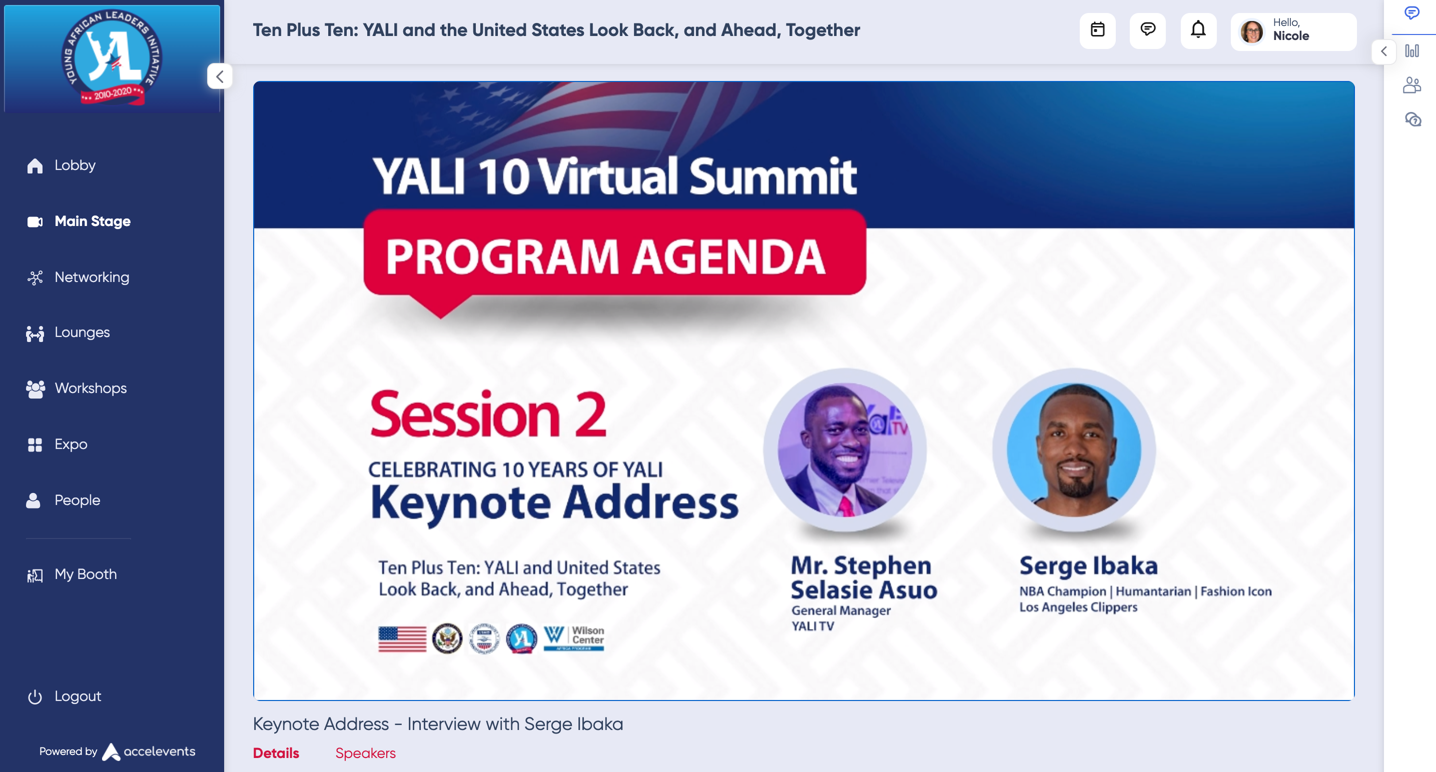 YALI Speakers at virtual conference